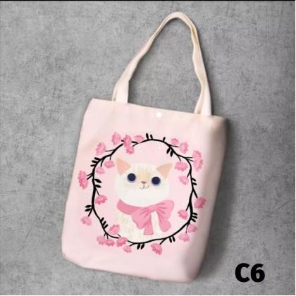 Canvas Tote Bag Cat Series