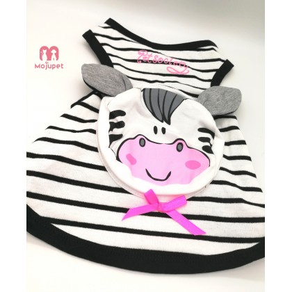 "Pet Singlet Pocket Singlet Cow Cartoon Design for Medium and Large Dog ""Walk Your Dog"" Style Singlet"